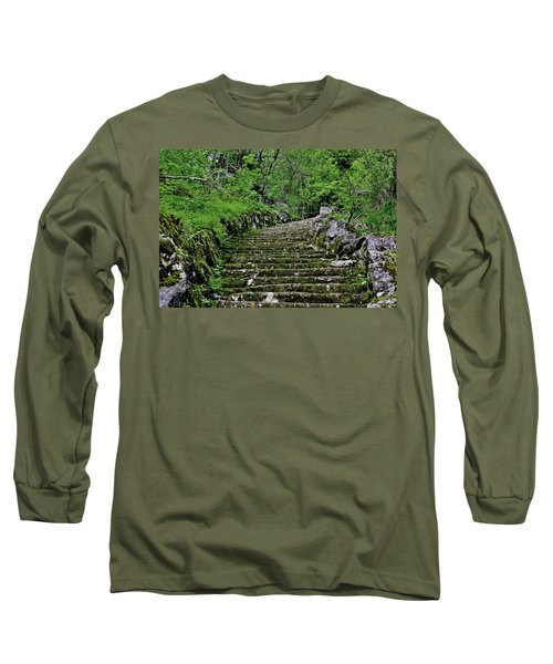 Long Sleeve T-Shirt featuring the photograph Clark Reservation  by Suzanne Stout