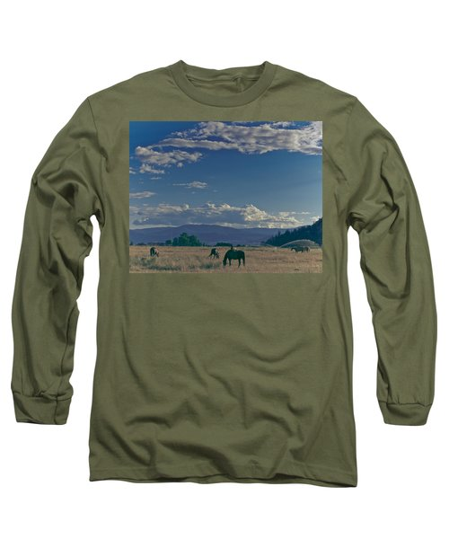 Classic Country Scene Long Sleeve T-Shirt