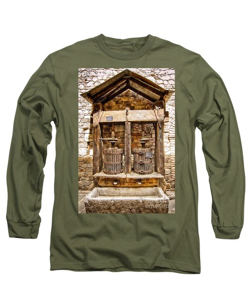 Long Sleeve T-Shirt featuring the photograph Classic Grape Press by Jason Abando