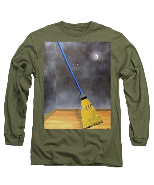 Cleaning Out The Universe Long Sleeve T-Shirt by Thomas Blood