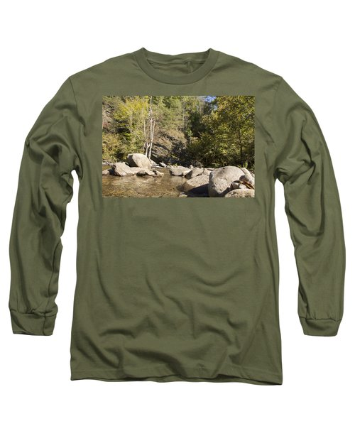 Clear Water Stream Long Sleeve T-Shirt by Ricky Dean