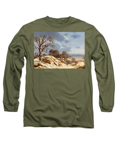 Clear Winter's Day By The Baltic Sea Long Sleeve T-Shirt