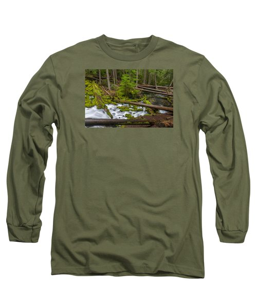 Clearwater Creek Rapids Long Sleeve T-Shirt by Greg Nyquist