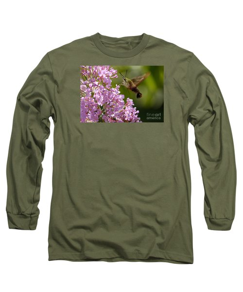 Clearwing Pink Long Sleeve T-Shirt by Randy Bodkins