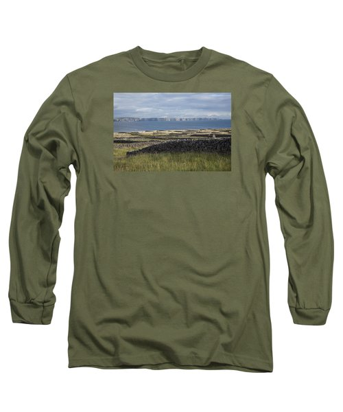 Cliffs Of Moher From Inisheer Long Sleeve T-Shirt