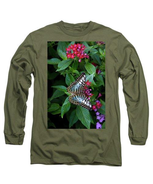 Clipper Butterfly On Star Flower Long Sleeve T-Shirt
