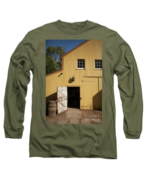 Close Up Of Landis Valley Yellow Barn Long Sleeve T-Shirt