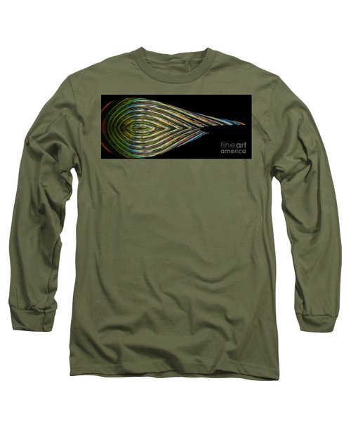 Long Sleeve T-Shirt featuring the digital art Closed Eye by Wendy Wilton