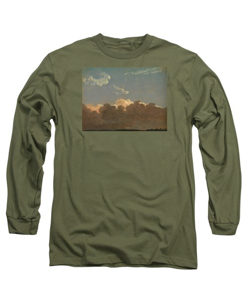 Long Sleeve T-Shirt featuring the painting Cloud Study. Distant Storm by Simon Denis