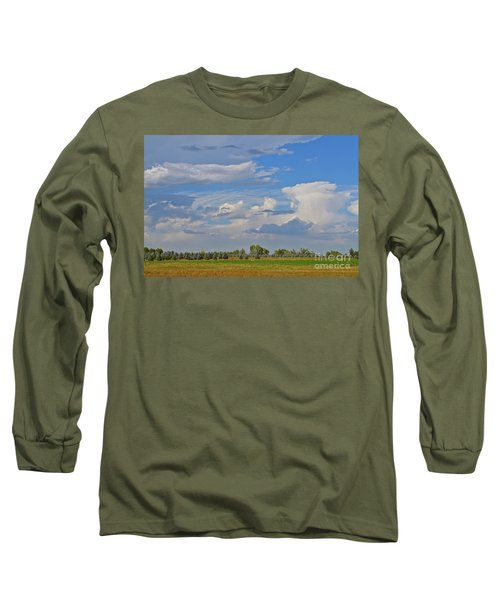 Clouds Aboive The Tree Farm Long Sleeve T-Shirt