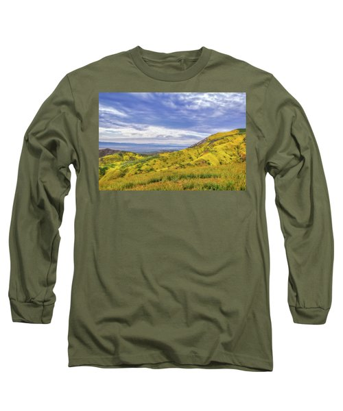 Long Sleeve T-Shirt featuring the photograph Clouds Above Temblor Range by Marc Crumpler