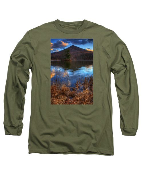 Clouds On Abbott Lake Long Sleeve T-Shirt by Steve Hurt