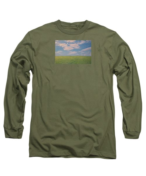 Clouds Over Green Field Long Sleeve T-Shirt