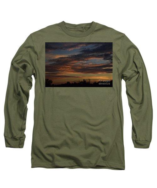 Cloudy Kansas Evening Long Sleeve T-Shirt