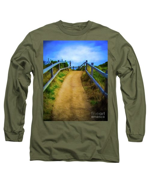 Long Sleeve T-Shirt featuring the photograph Coast Path by Perry Webster