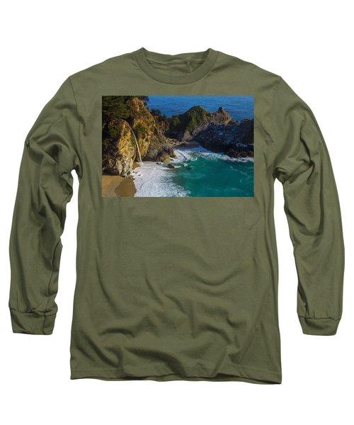Coastal Waterfall Long Sleeve T-Shirt