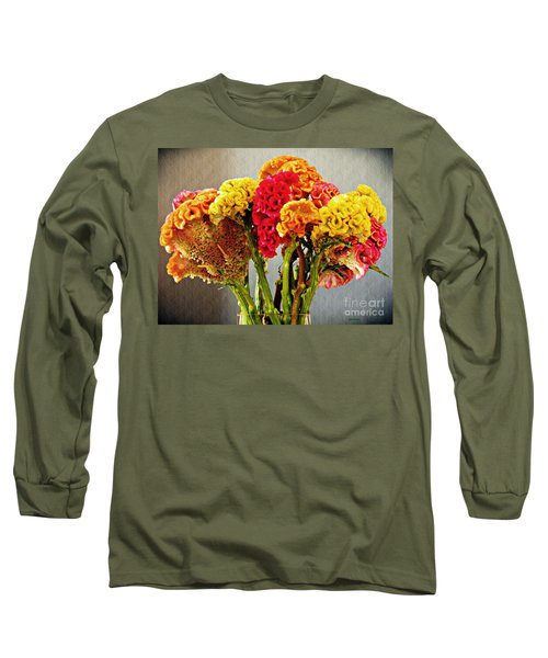 Long Sleeve T-Shirt featuring the photograph Cockscomb Bouquet 3 by Sarah Loft