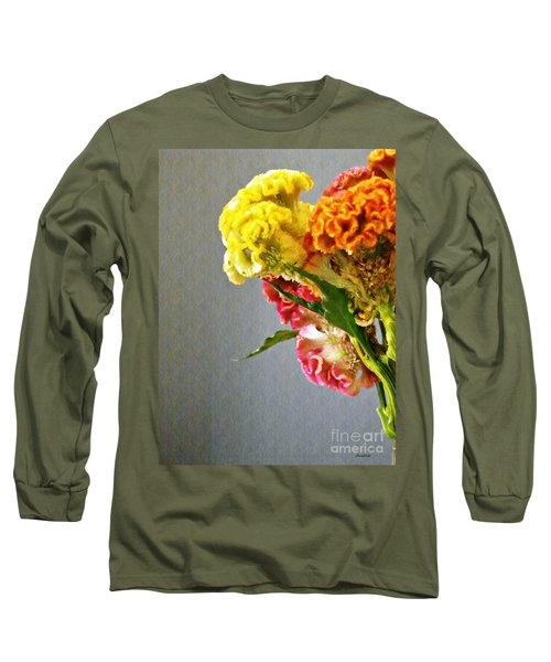 Long Sleeve T-Shirt featuring the photograph Cockscomb Bouquet 4 by Sarah Loft