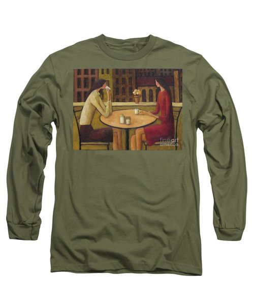 Long Sleeve T-Shirt featuring the painting Coffee Break by Glenn Quist
