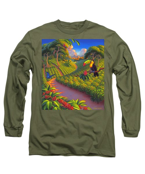 Coffee Plantation Long Sleeve T-Shirt by Robin Moline