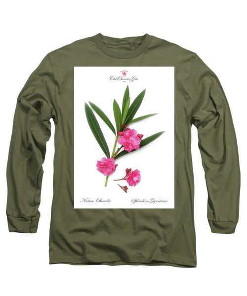 Long Sleeve T-Shirt featuring the photograph Cog  Nerium Oleander Splendens Giganteum by Wilhelm Hufnagl