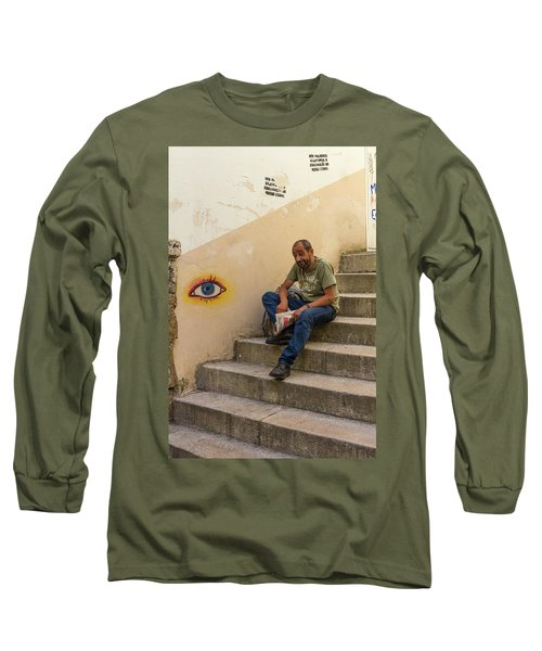 Long Sleeve T-Shirt featuring the photograph Coimbra  Local  by Patricia Schaefer