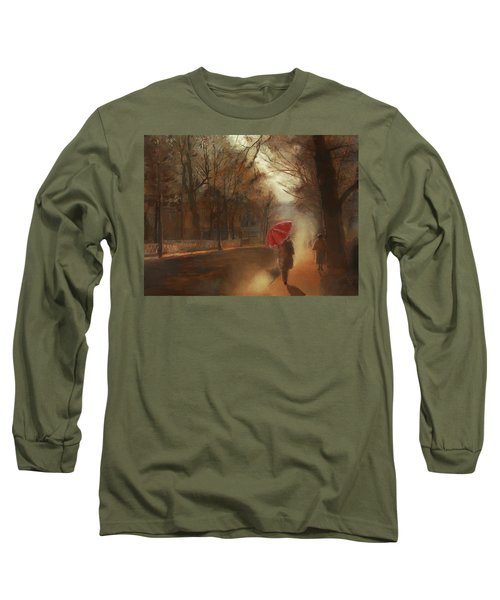 Cold Autumn Morning Painting Long Sleeve T-Shirt