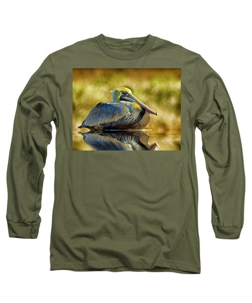 Cold Brown Pelican Long Sleeve T-Shirt