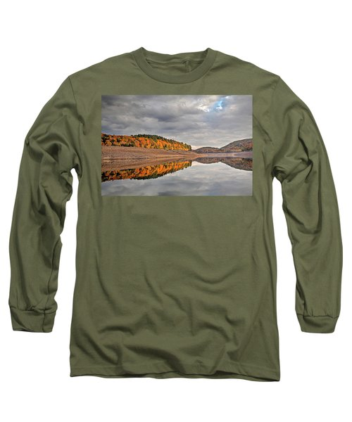 Colebrook Reservoir - In Drought Long Sleeve T-Shirt by Tom Cameron