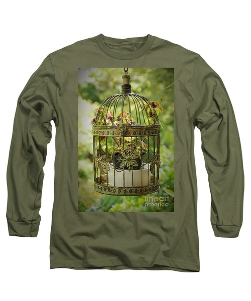 Coleus In Vintage Birdcage Long Sleeve T-Shirt