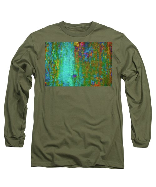 Color Abstraction Lxvii Long Sleeve T-Shirt by David Gordon