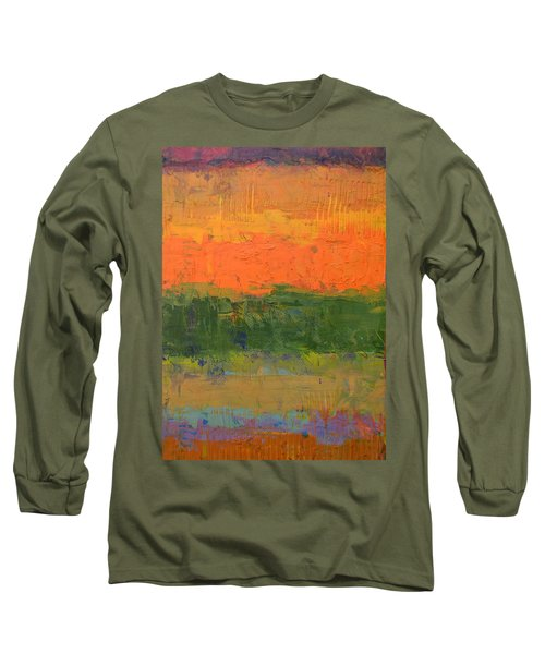 Color Collage Four Long Sleeve T-Shirt by Michelle Calkins