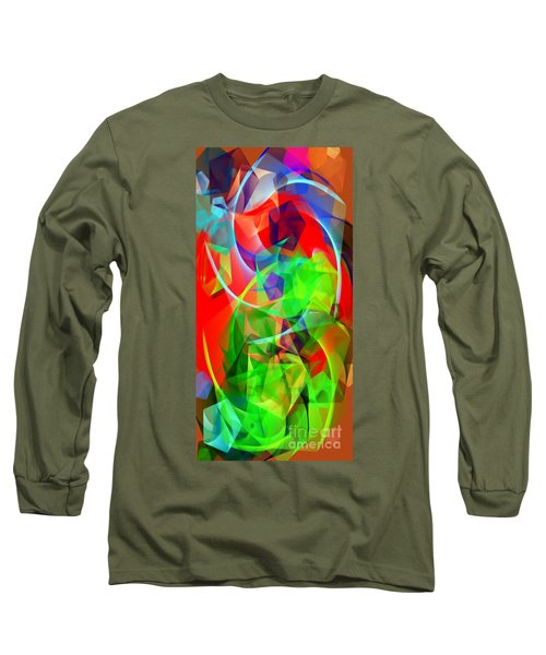 Long Sleeve T-Shirt featuring the digital art Color Dance 3720 by Rafael Salazar
