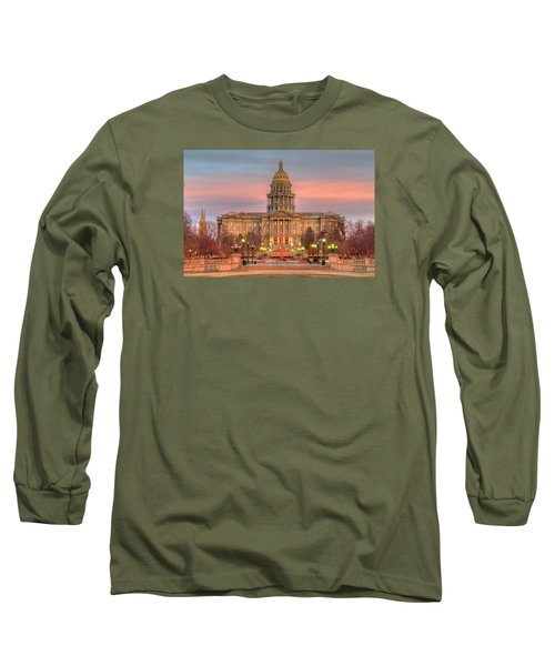 Long Sleeve T-Shirt featuring the photograph Colorado Capital by Gary Lengyel