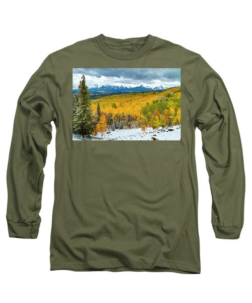 Colorado Valley Of Autumn Color Long Sleeve T-Shirt by Teri Virbickis