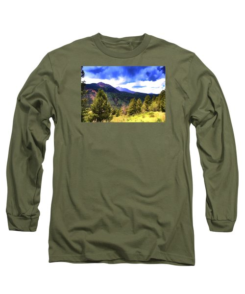 Colorado Watercolor Long Sleeve T-Shirt by James Bethanis