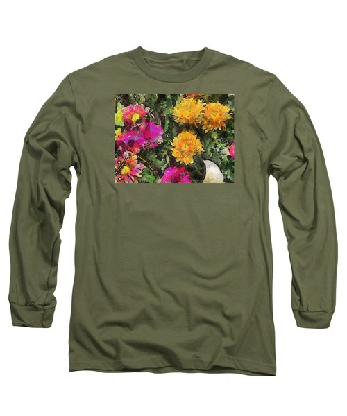 Colored Flowers Long Sleeve T-Shirt