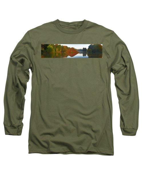 Colored Lake Pyramid Long Sleeve T-Shirt