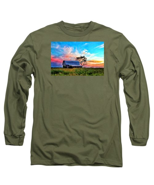 Colored Sunrise Long Sleeve T-Shirt