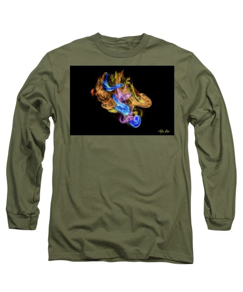 Long Sleeve T-Shirt featuring the photograph Colored Vapors by Rikk Flohr