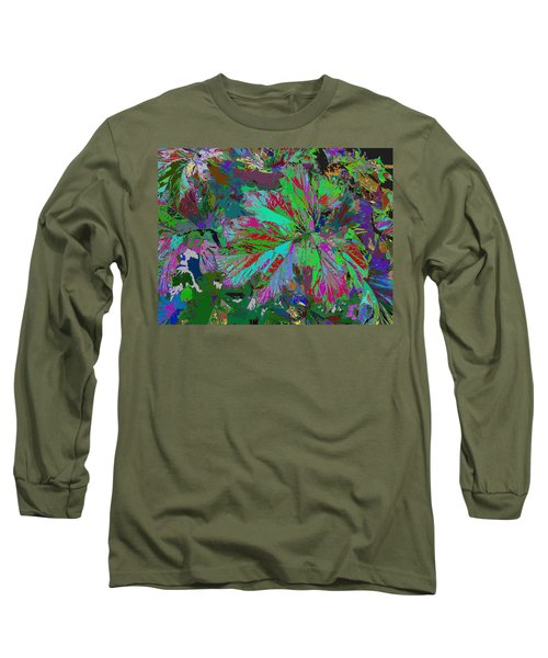 Colorfication - Leafy Colored Long Sleeve T-Shirt
