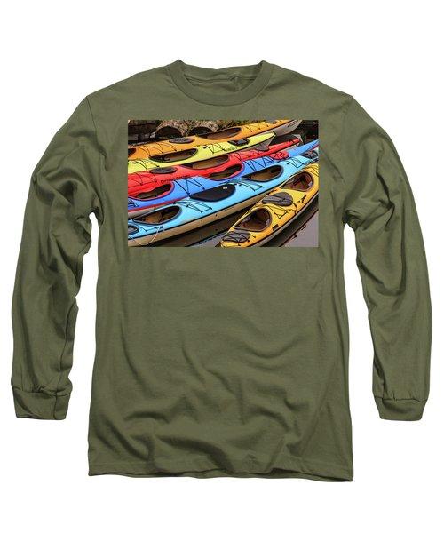 Colorful Alaska Kayaks Long Sleeve T-Shirt