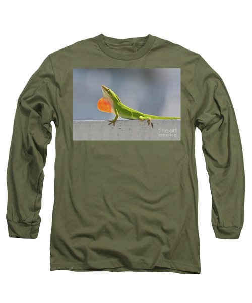 Colorful Carolina Anole Lizard Long Sleeve T-Shirt
