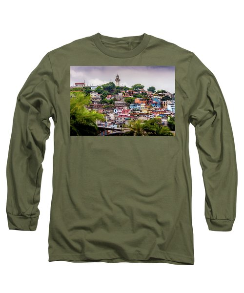 Colorful Houses On The Hill Long Sleeve T-Shirt
