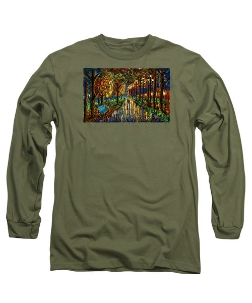 Colorful Forest Long Sleeve T-Shirt by Darren Cannell