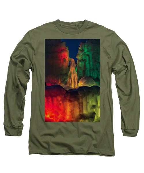 Colorful Ice  Long Sleeve T-Shirt by Betty Pauwels
