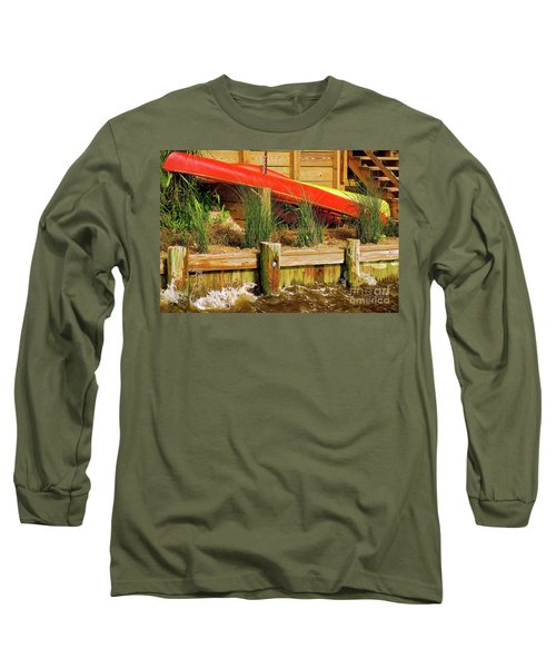 Long Sleeve T-Shirt featuring the photograph Colorful Kayak Duo by Lois Bryan