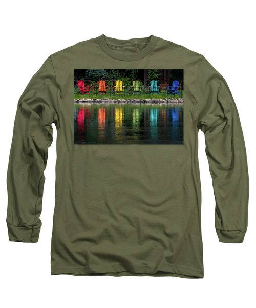 Colorful  Long Sleeve T-Shirt by Martina Thompson