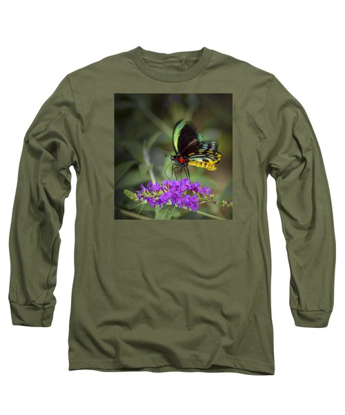 Colorful Northern Butterfly Long Sleeve T-Shirt by Penny Lisowski