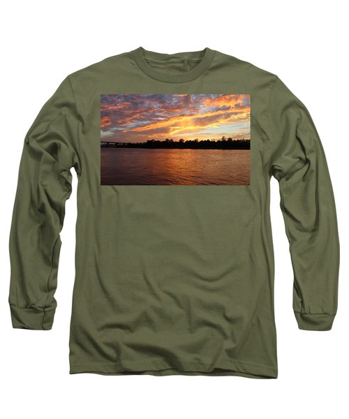 Long Sleeve T-Shirt featuring the photograph Colorful Sky At Sunset by Cynthia Guinn